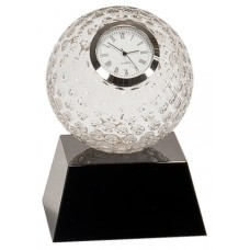 5 inch Clear Crystal Golf Ball Clock